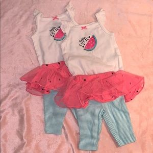 Never worn washed 1 time! Carter's Newborn outfit